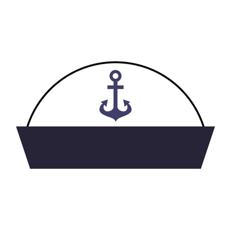 Sailor Hut isoliert Symbol Vektor-Illustration , Design , Standard-Bild - 84616173