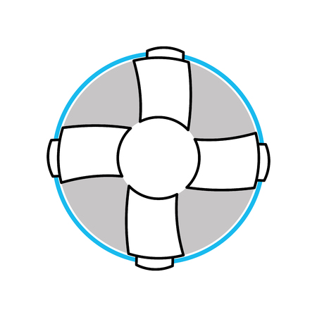 Float bagnino isolato icona illustrazione vettoriale progettazione Archivio Fotografico - 84616175