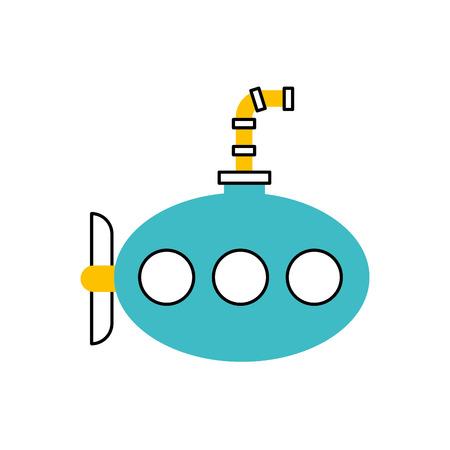 sea submarine isolated icon vector illustration design