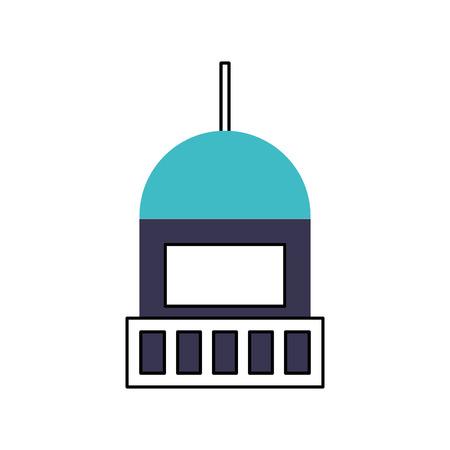 Overzees vuurtoren geïsoleerd vector de illustratieontwerp van het pictogram