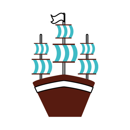 antique sailboat isolated icon vector illustration design Stock Vector - 84589398