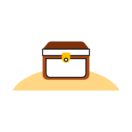 wooden trunk on the beach vector illustration design Иллюстрация