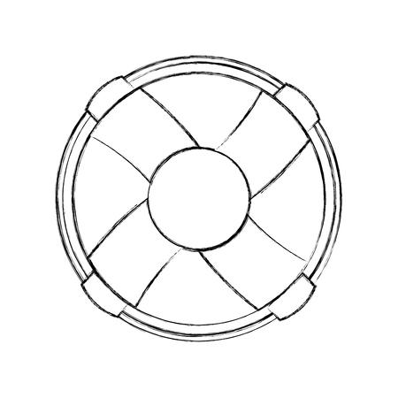 分離されたライフガード アイコン ベクトル イラスト デザインをフロートします。  イラスト・ベクター素材