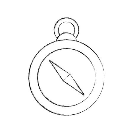 ガイド コンパス アイコン ベクトル イラスト デザインを分離しました。  イラスト・ベクター素材