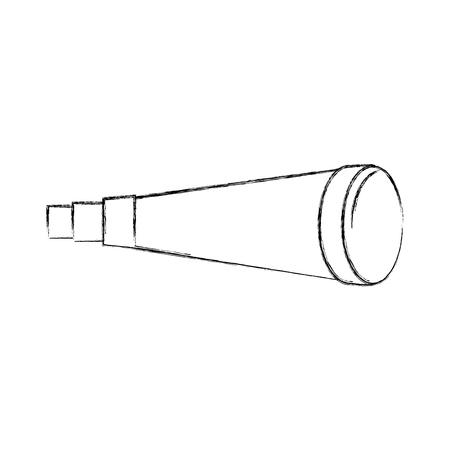 Vector de illustratieontwerp van het telescoopapparaat geïsoleerd pictogram
