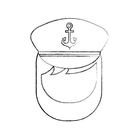 Sailor captain avatar character vector illustration design