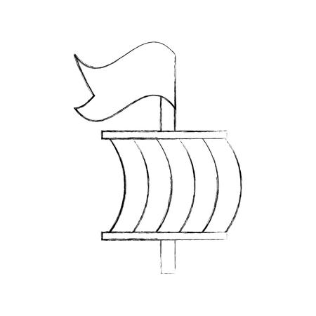 Sailing boat isolated icon vector illustration design Ilustracja