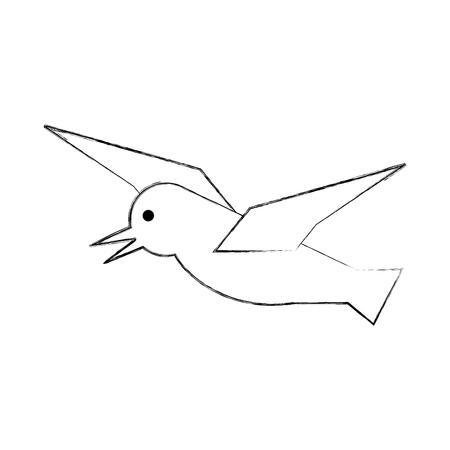 Gull flying isolated icon vector illustration design