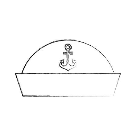 Sailor Hut isoliert Symbol Vektor-Illustration Design Standard-Bild - 84589384