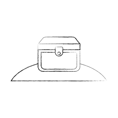 wooden trunk on the beach vector illustration design Ilustração