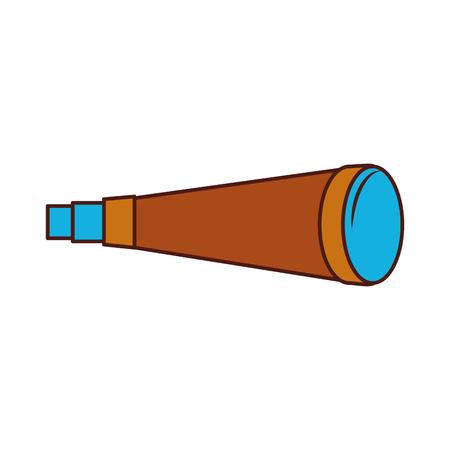 Telescoop apparaat geïsoleerd pictogram vector illustratie ontwerp Stockfoto - 84590740