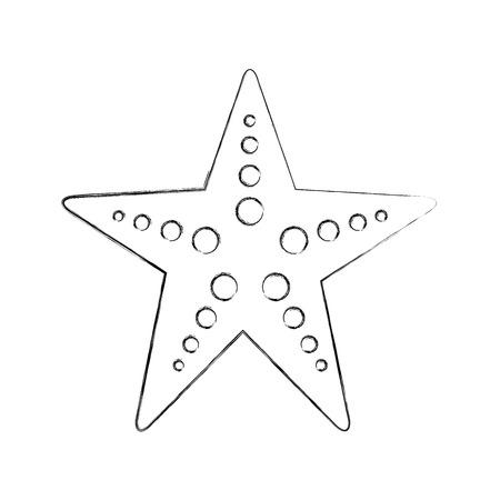 starfish sea life icon vector illustration design