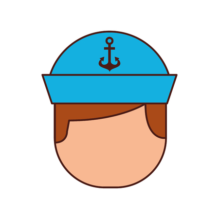 Sailor avatar character icon vector illustration design Illustration
