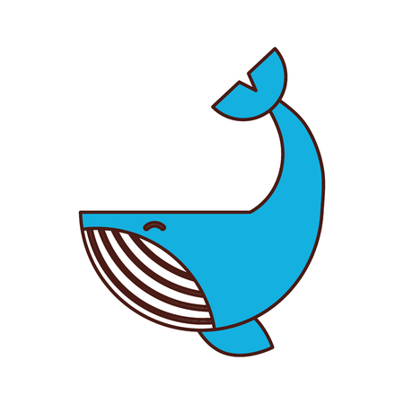 Humpback Whale isolated icon vector illustration design Stock Vector - 84590552