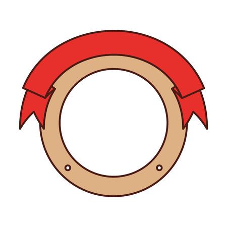 Sello con la cinta icono ilustración vectorial de diseño Foto de archivo - 84590561