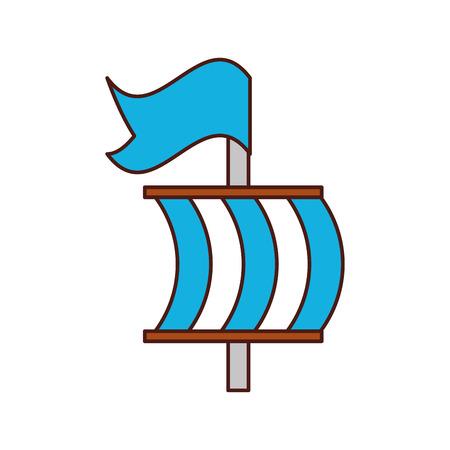 Segelboot isoliert Symbol Vektor-Illustration Design Standard-Bild - 84591568