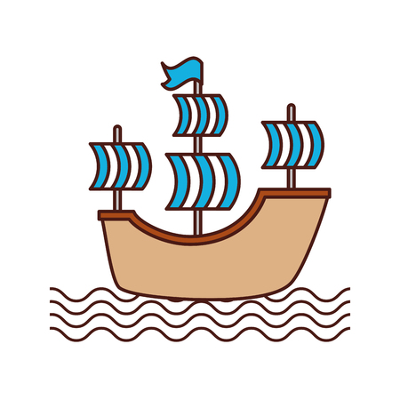 antique sailboat isolated icon vector illustration design Illustration