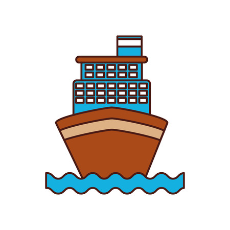 cruise boat isolated icon vector illustration design Ilustração