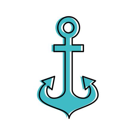 앵커 해양 절연 아이콘 그림 디자인