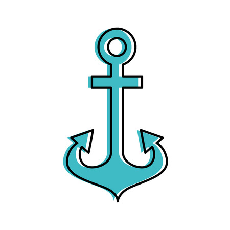 Anchor maritime isolated icon illustration design Ilustração
