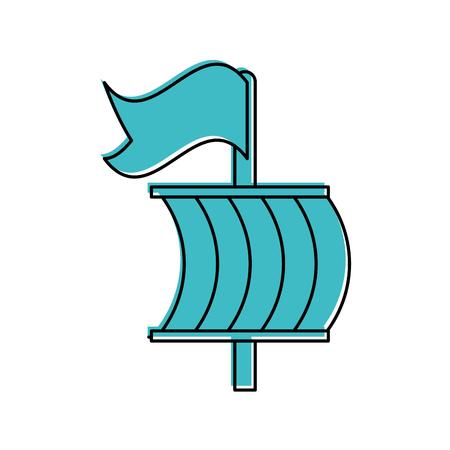 Segelboot isoliert Symbol Vektor-Illustration , Design , Standard-Bild - 84590875