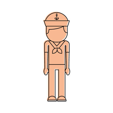 Sailor avatar character icon vector illustration design Illustration