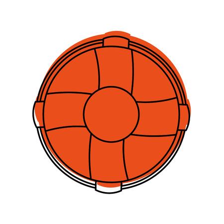 Float bagnino isolato icona illustrazione vettoriale di progettazione Archivio Fotografico - 84591189