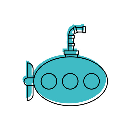 바다 잠수함 격리 된 아이콘 벡터 일러스트 디자인 일러스트