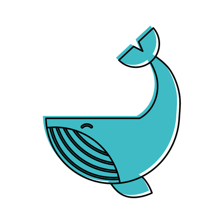 Humpback Whale isolated icon vector illustration design Stock Vector - 84591195