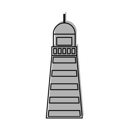 Sea lighthouse isolated icon vector illustration design