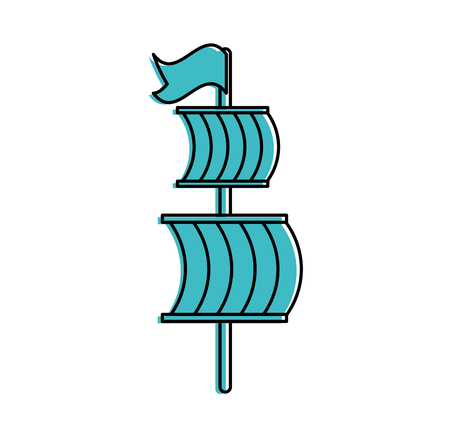 sailing boat isolated icon vector illustration design