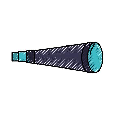 Telescope device isolated icon vector illustration design