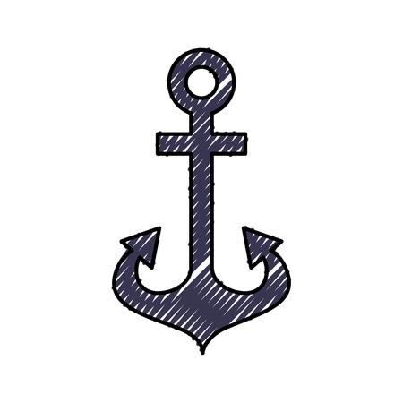 Ontwerp van de het pictogram vectorillustratie van het anker het maritieme geïsoleerde