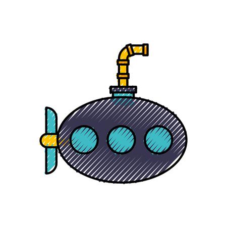海海底分離アイコン ベクトル イラスト デザイン