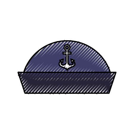sailor hat isolated icon vector illustration design Ilustrace