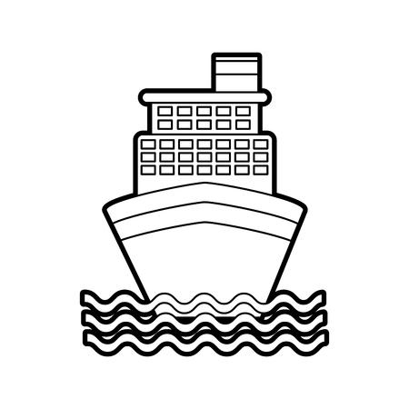 cruise boat isolated icon vector illustration design Ilustrace