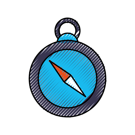 compass guide isolated icon vector illustration design Ilustração