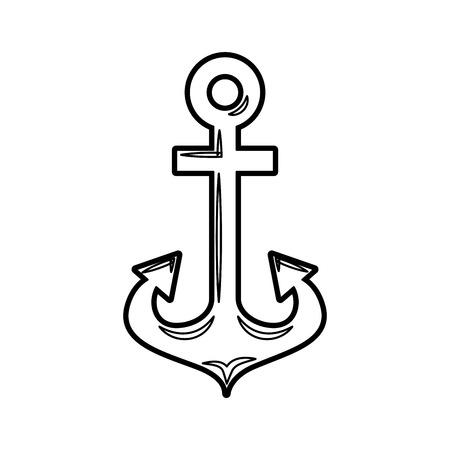 anker maritieme geïsoleerde pictogram vectorillustratieontwerp