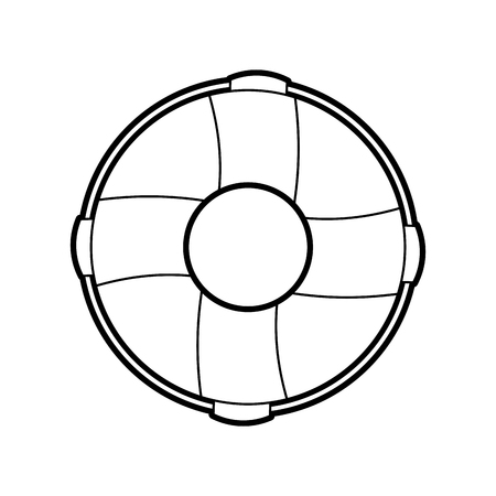 Float bagnino isolato icona illustrazione vettoriale di progettazione Archivio Fotografico - 84591228