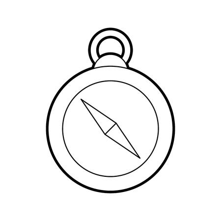 分離されたガイド コンパス アイコン ベクトル イラスト デザイン