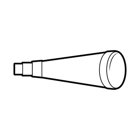 telescoop apparaat geïsoleerd pictogram vector illustratie ontwerp