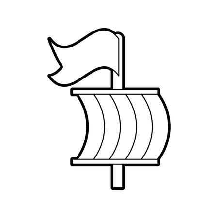 セーリング ボート分離アイコン ベクトル イラスト デザイン