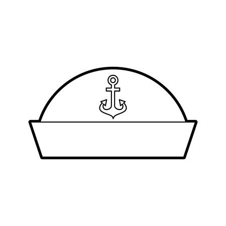 Seemann Hut isoliert Symbol Vektor-Illustration Design Standard-Bild - 84591245