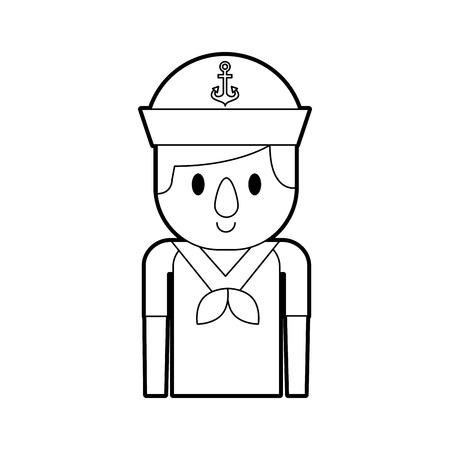 sailor avatar character icon vector illustration design