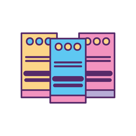 computer towers network icon vector illustration design