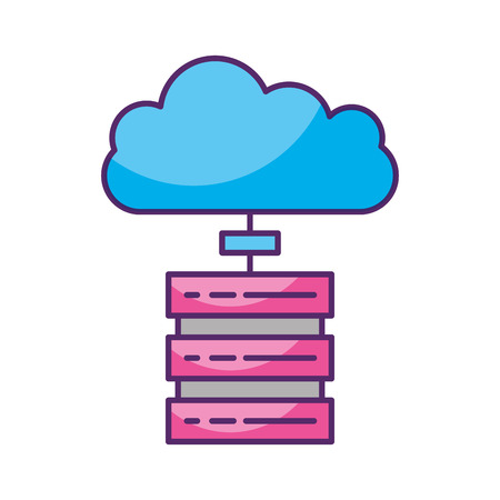 cloud computing with server vector illustration design Ilustrace