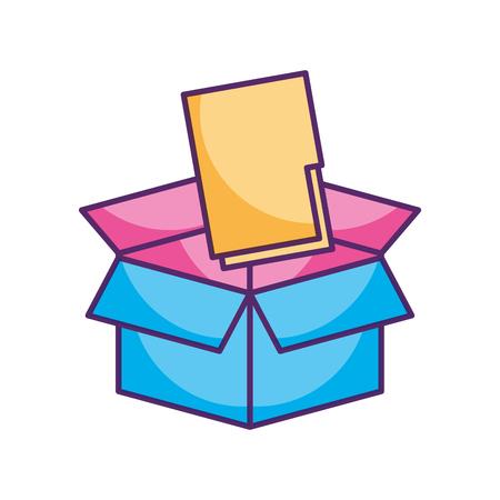folder document in box vector illustration design Illustration