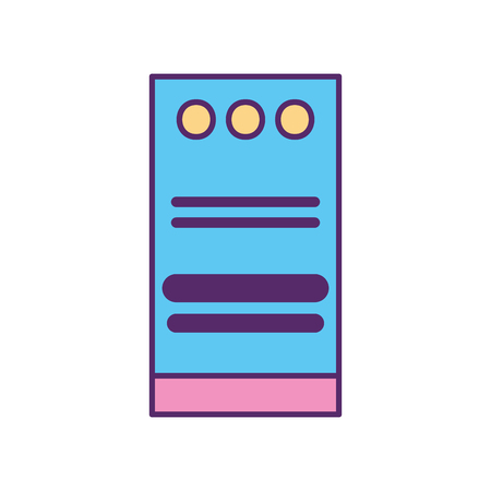computer tower isolated icon vector illustration design Stok Fotoğraf - 84593037