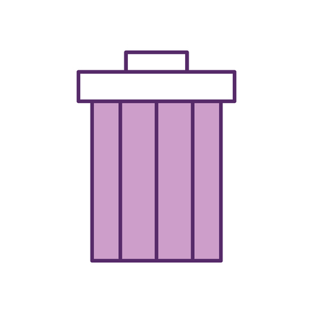 garbage pot isolated icon vector illustration design
