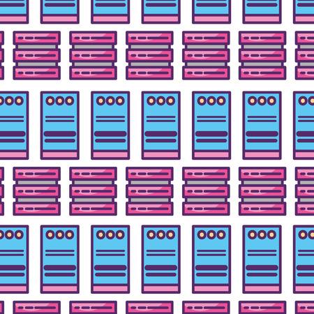 computer tower pattern background vector illustration design